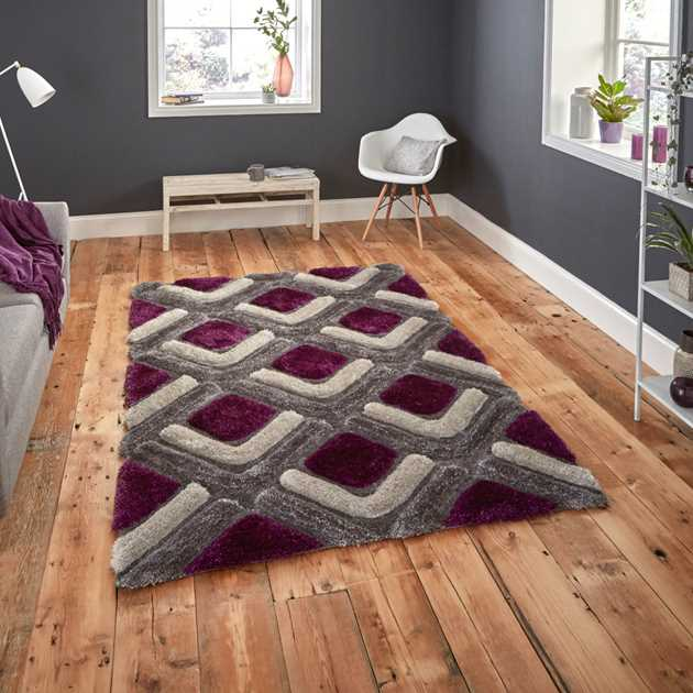 Noble House Rugs NH 8199 in Grey Purple