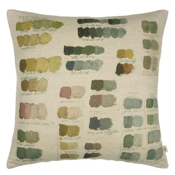 Neutral Mixed Tones Cushion - Pistachio