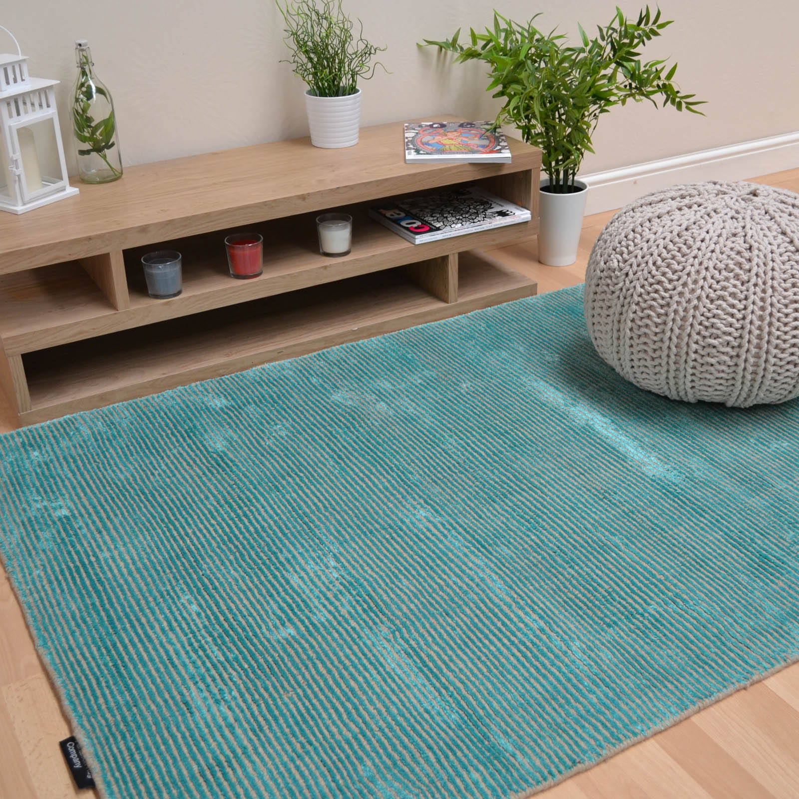 Plantation Oceans Rugs OCE03 in Emerald Green
