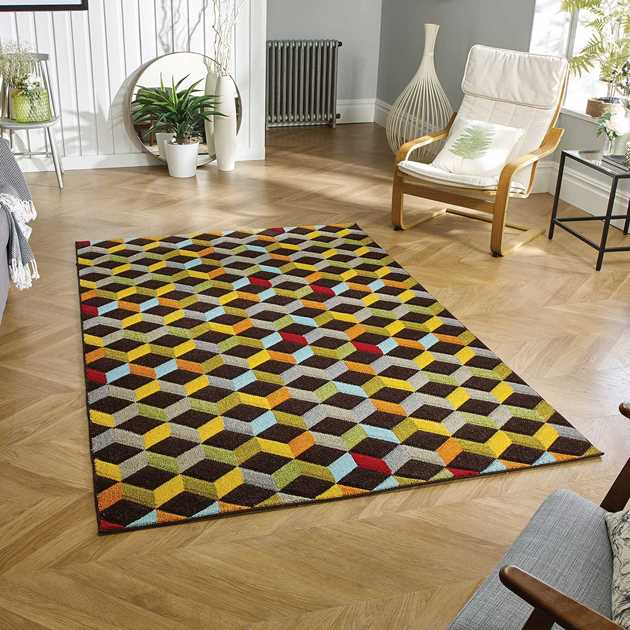Piccadilly Multicoloured Rugs 563 B