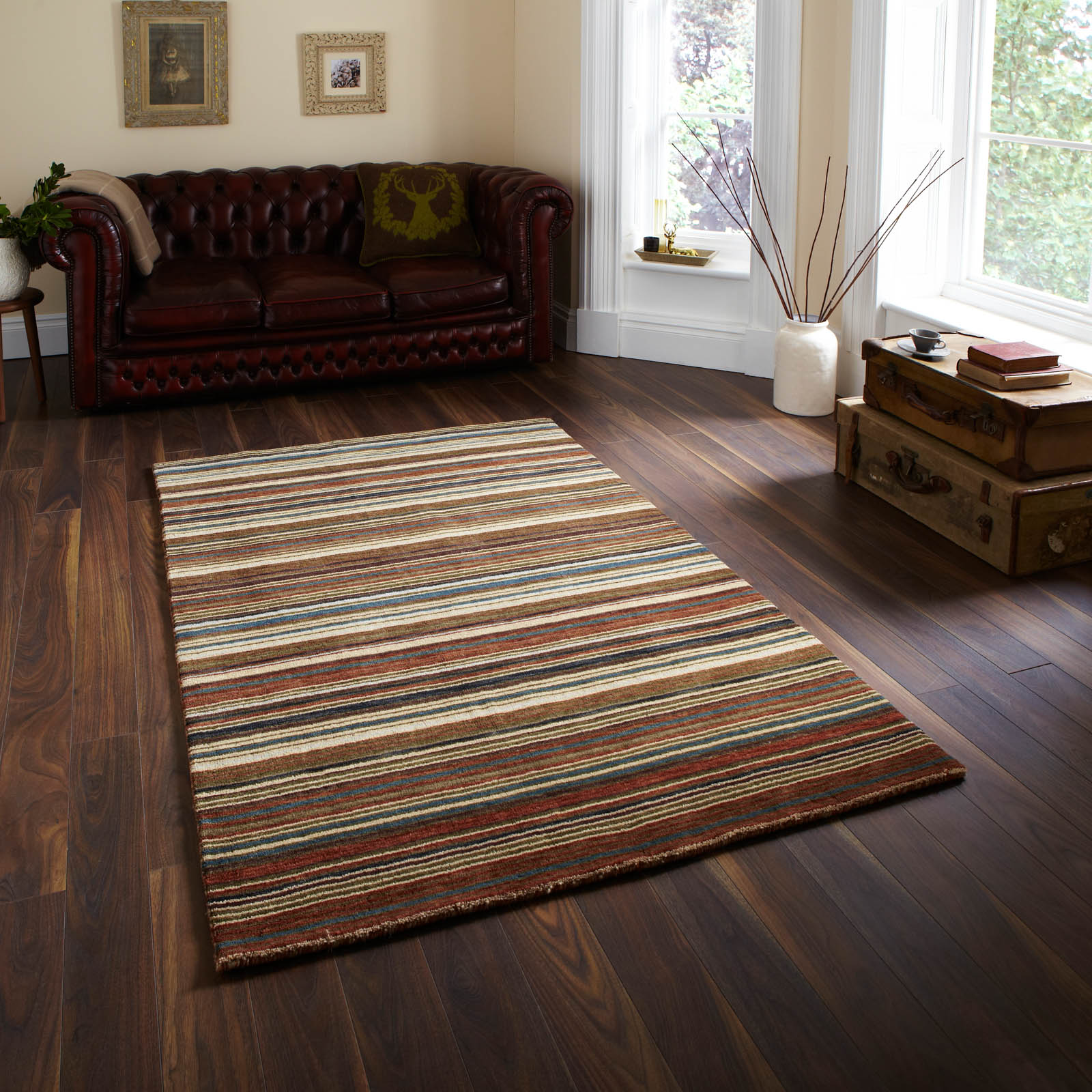 Oxford Rugs OX 10 Stripes in Natural Multi