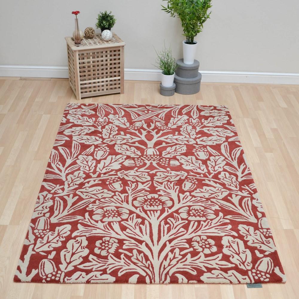 Oak Rugs 27900 Crimson By William Morris