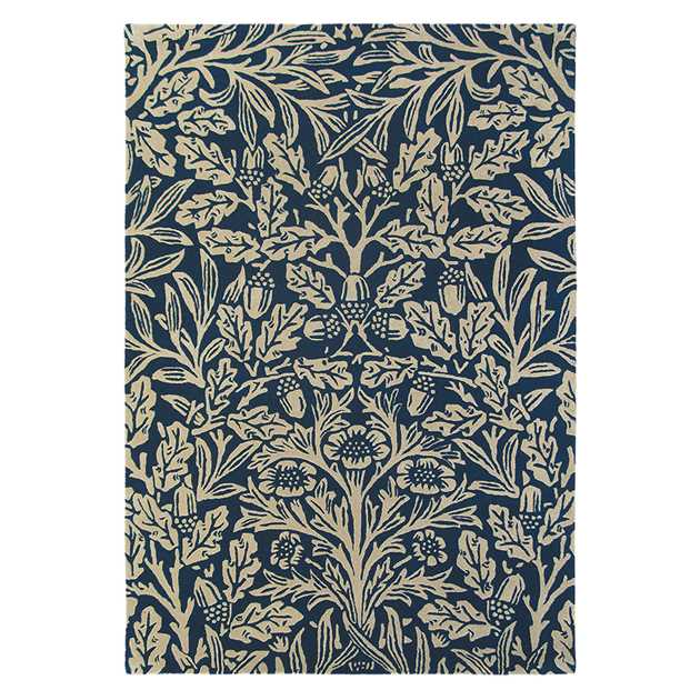 Oak Rugs 27908 Indigo by William Morris