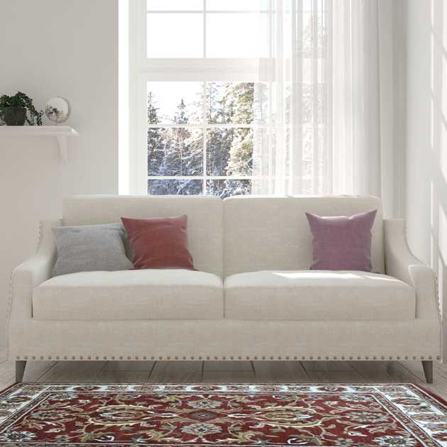 Orient Rugs in Rust and Ivory