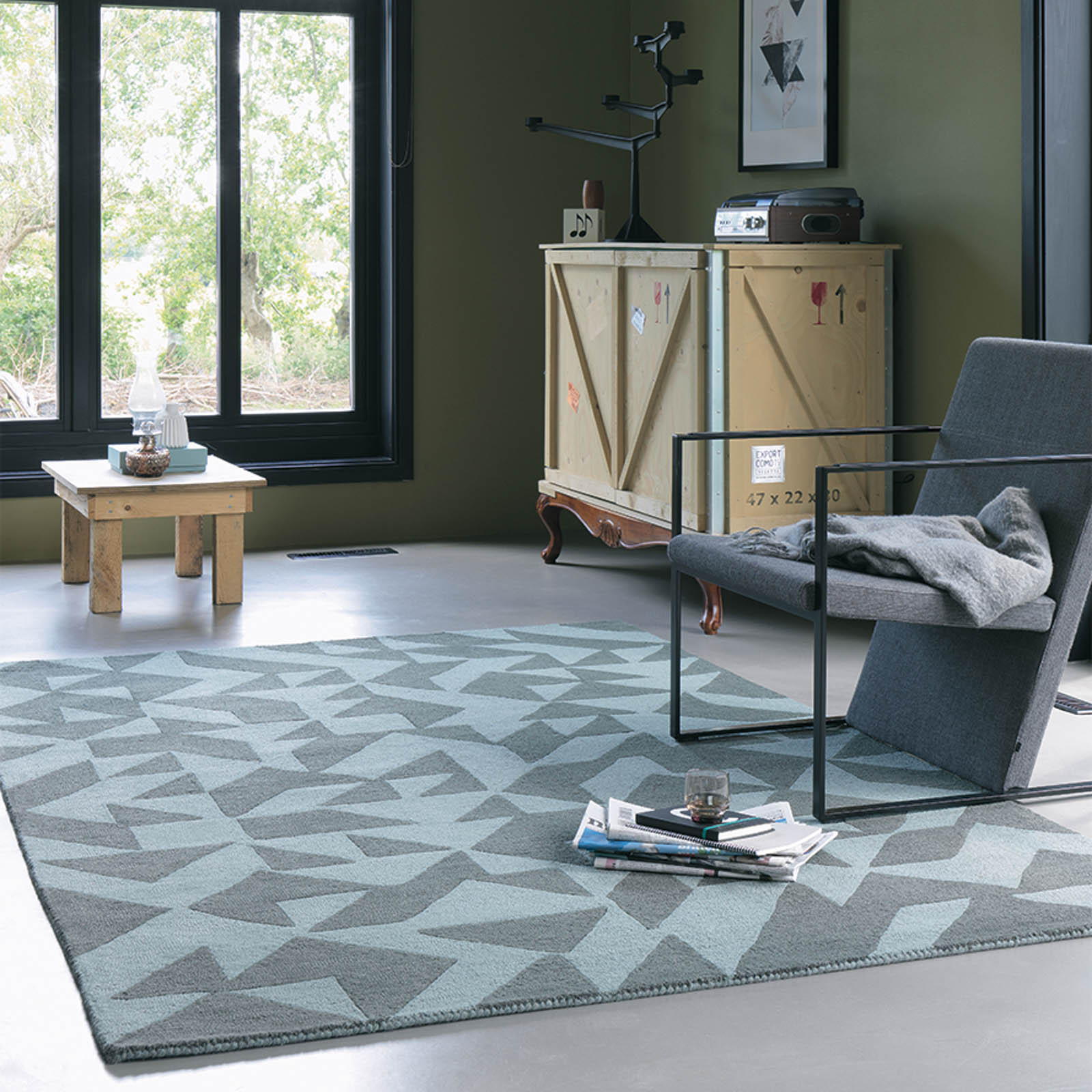 Nova Origami Rugs 89015 in Grey by Brink and Campman