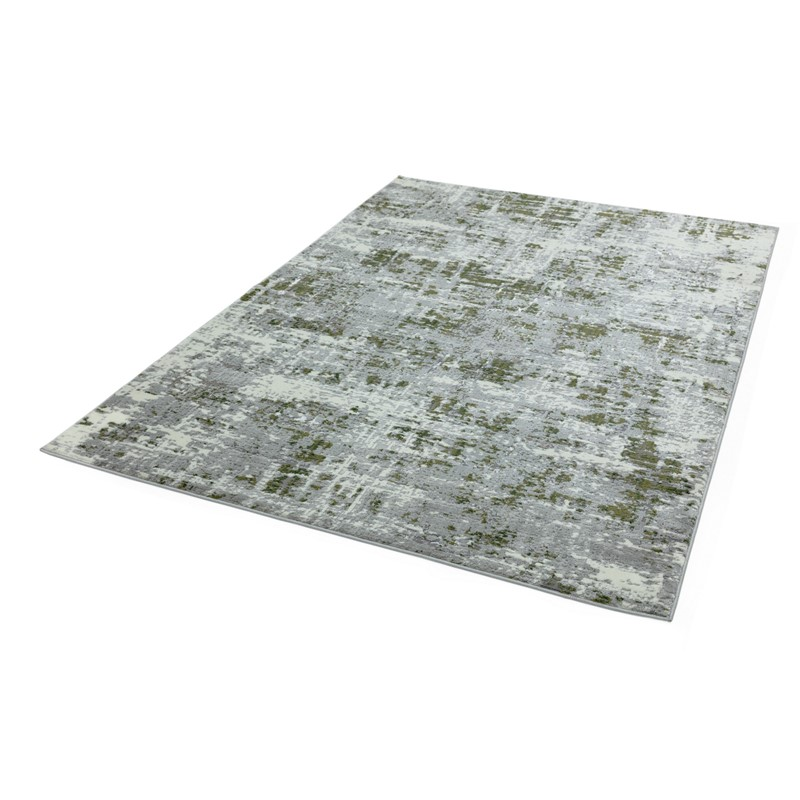 Orion Abstract Metallic Rugs In Or08 Green Buy Online From The Rug Seller Uk
