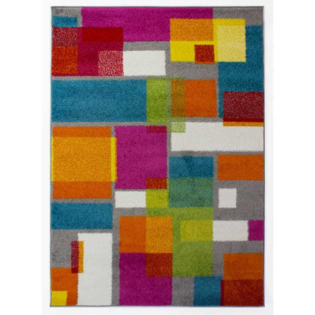 Brights Overlay Multicoloured Rugs