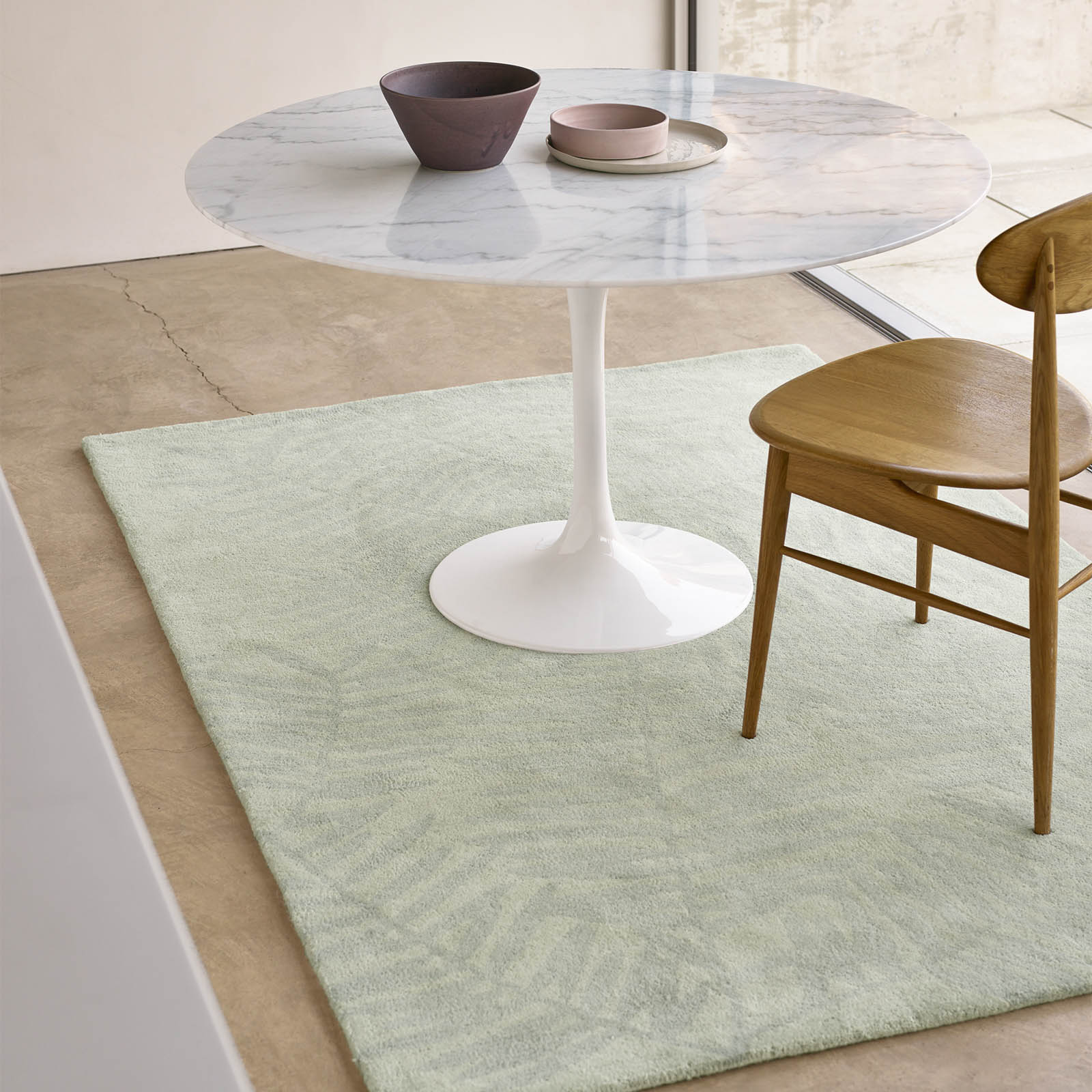 Palm Rugs PAL01 in Light Green