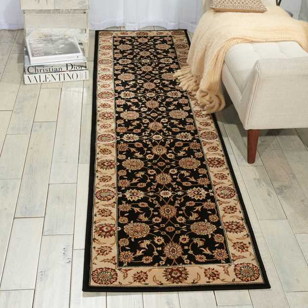 Persian Crown Hallway Runners PC002 Black
