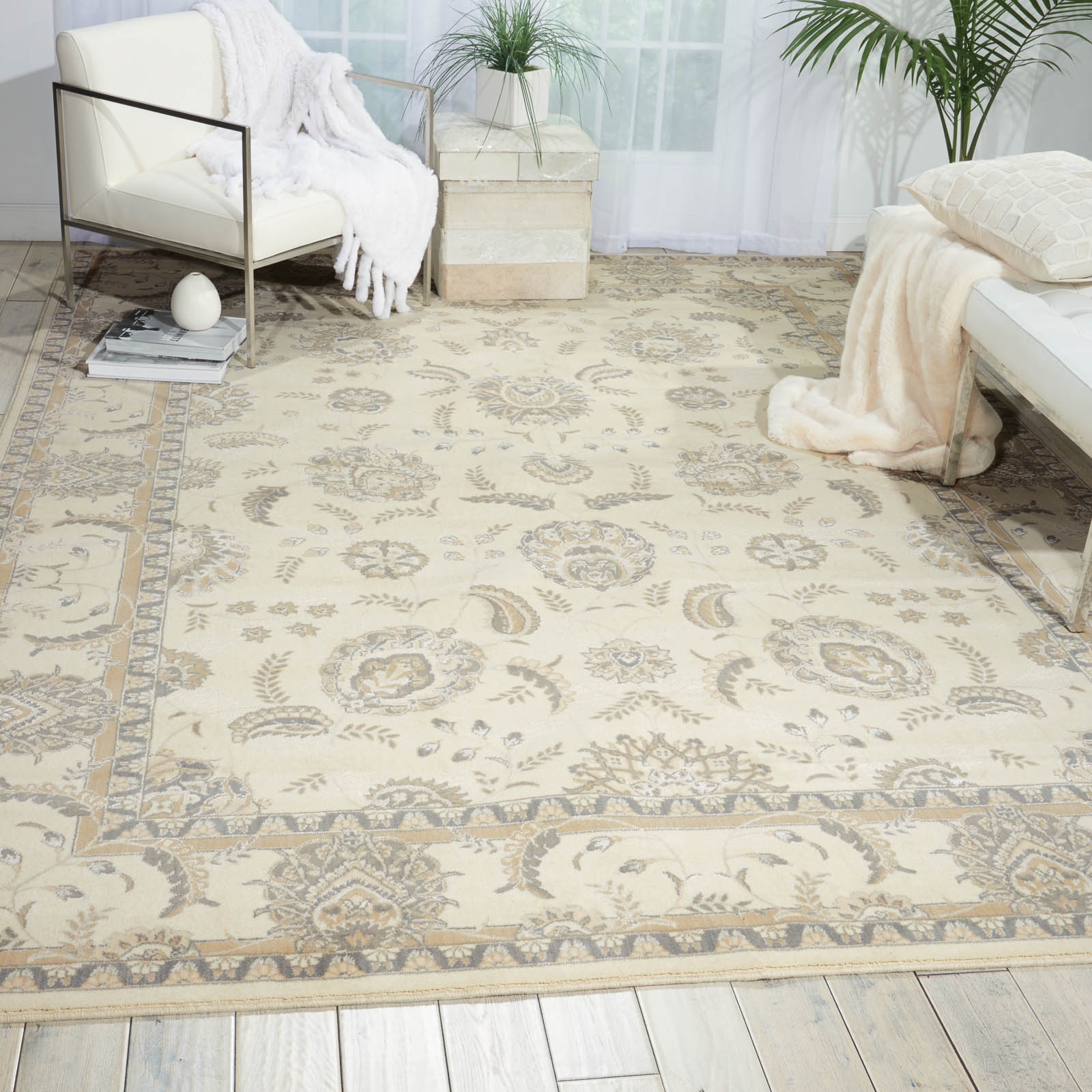 Persian Empire Rugs PE22 Bone by Nourison