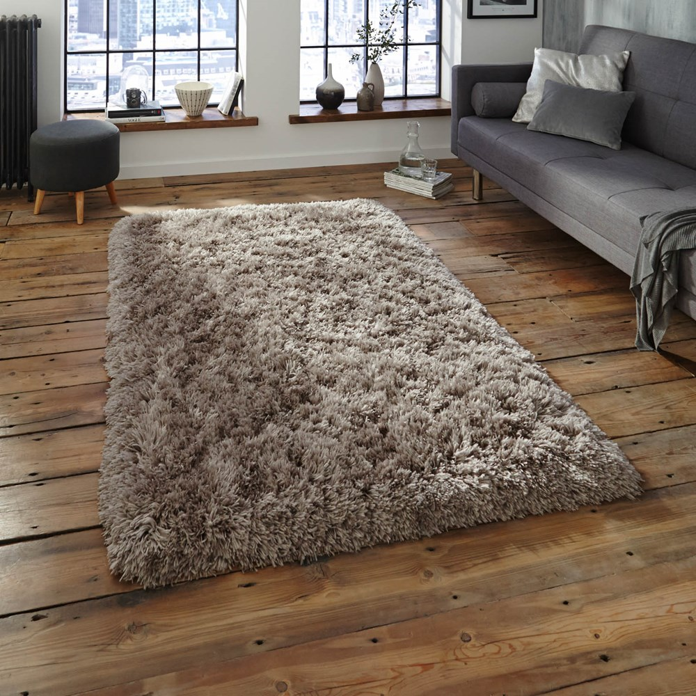 Polar PL95 Shaggy Rugs In Grey Buy Online From The Rug