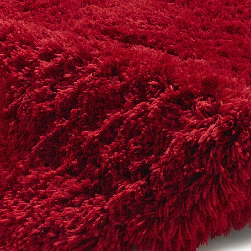 Polar PL95 Shaggy Rugs In Red Buy Online From The Rug
