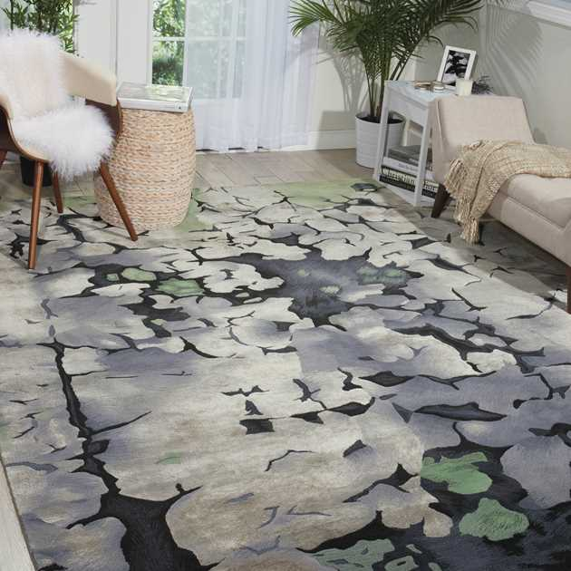 Prismatic Rugs PRS03 by Nourison in Charcoal