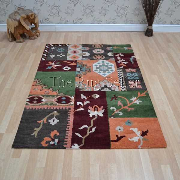Patchwork PW02 Multi Wool Rugs