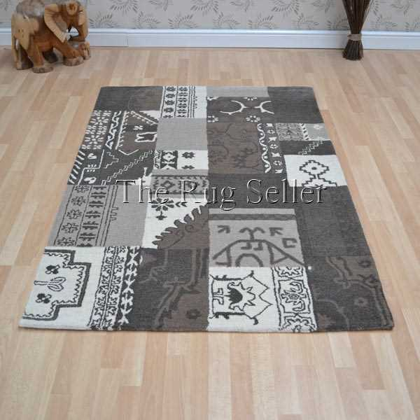 Patchwork PW03 Natural Wool Rugs