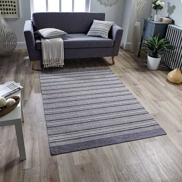 Pacific Anti Slip Rugs 126X in Grey