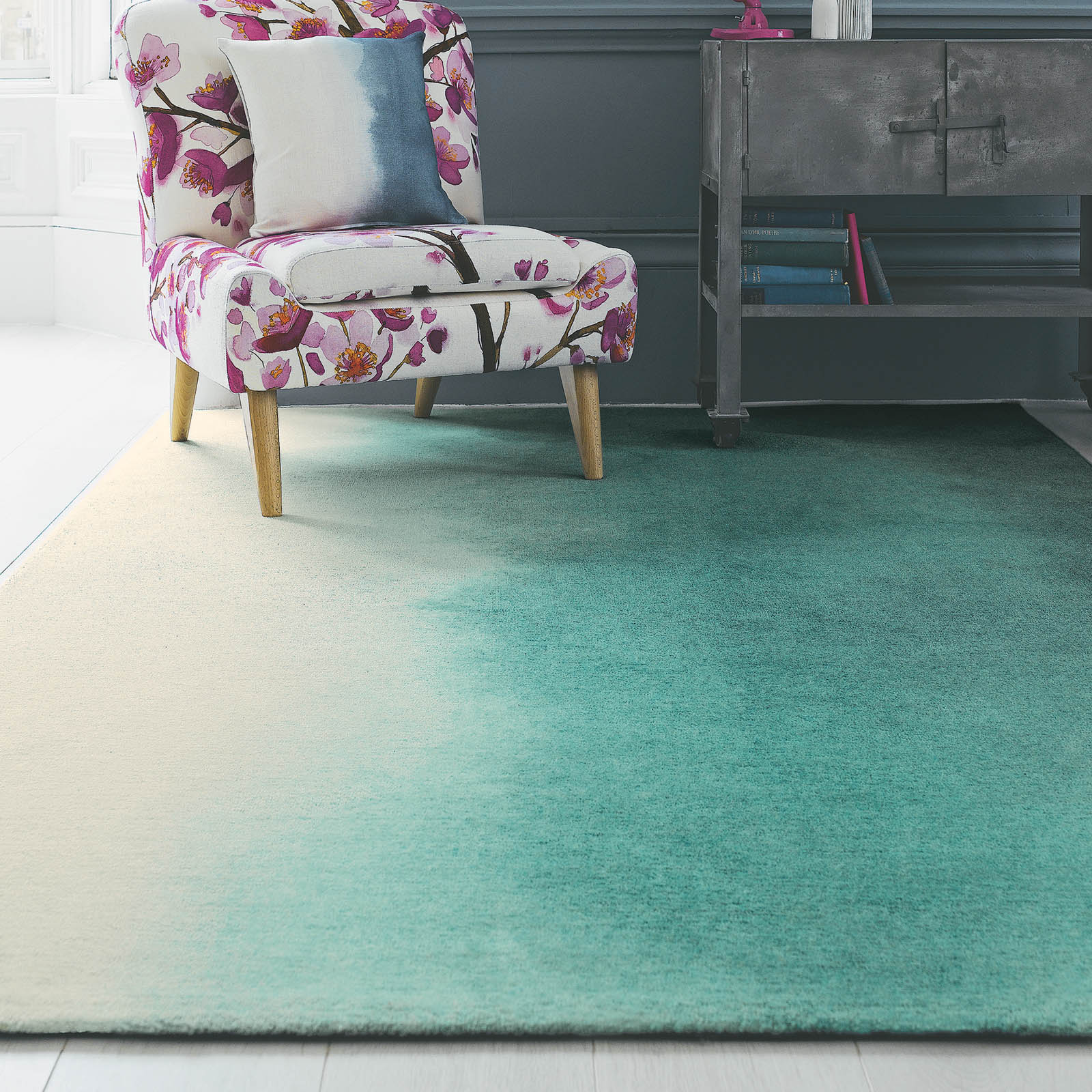 Paintbox Rugs 18207 by Bluebellgray in Teal