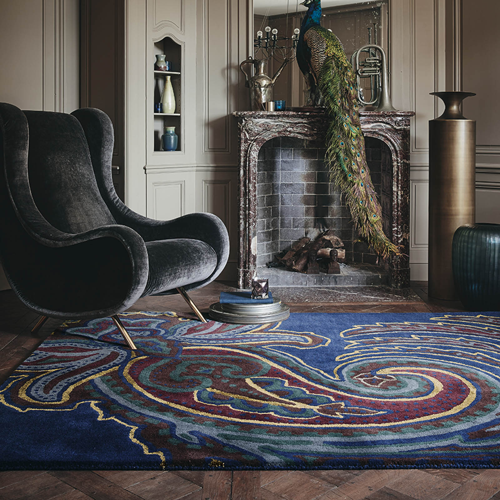 Paisgeo Rugs 57508 by Ted Baker in Navy