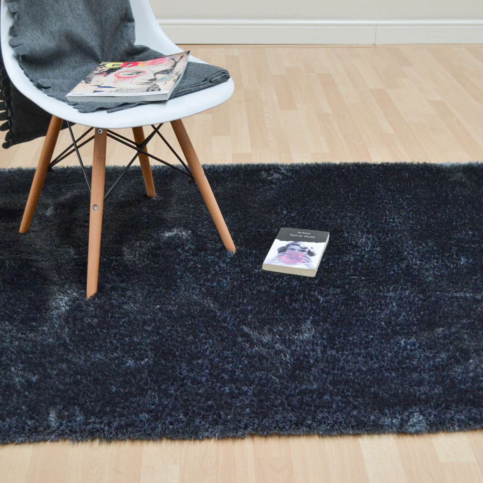 Paris Shaggy Rugs in Dark Grey
