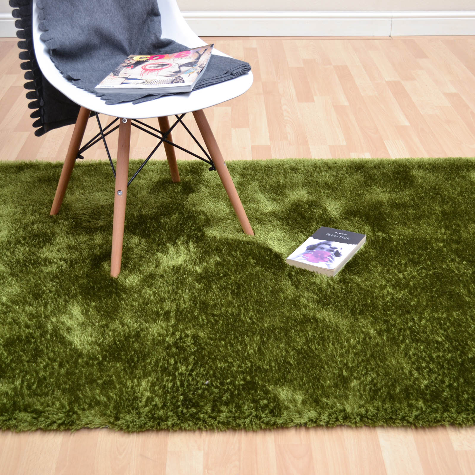 Paris Shaggy Rugs in Green