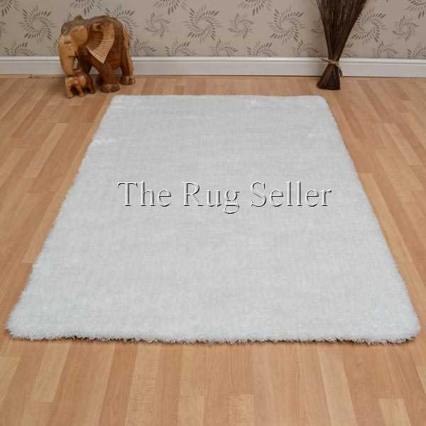 Paris Shaggy Rugs in White