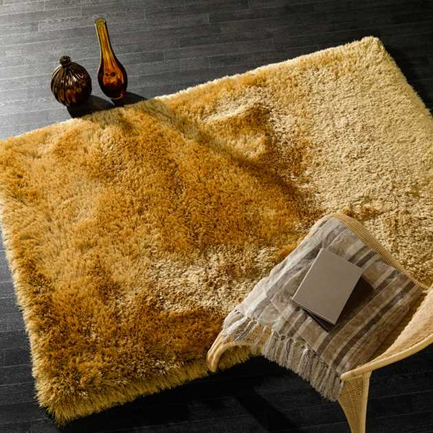Pearl Shaggy Rugs In Mustard Free Uk Delivery The Rug