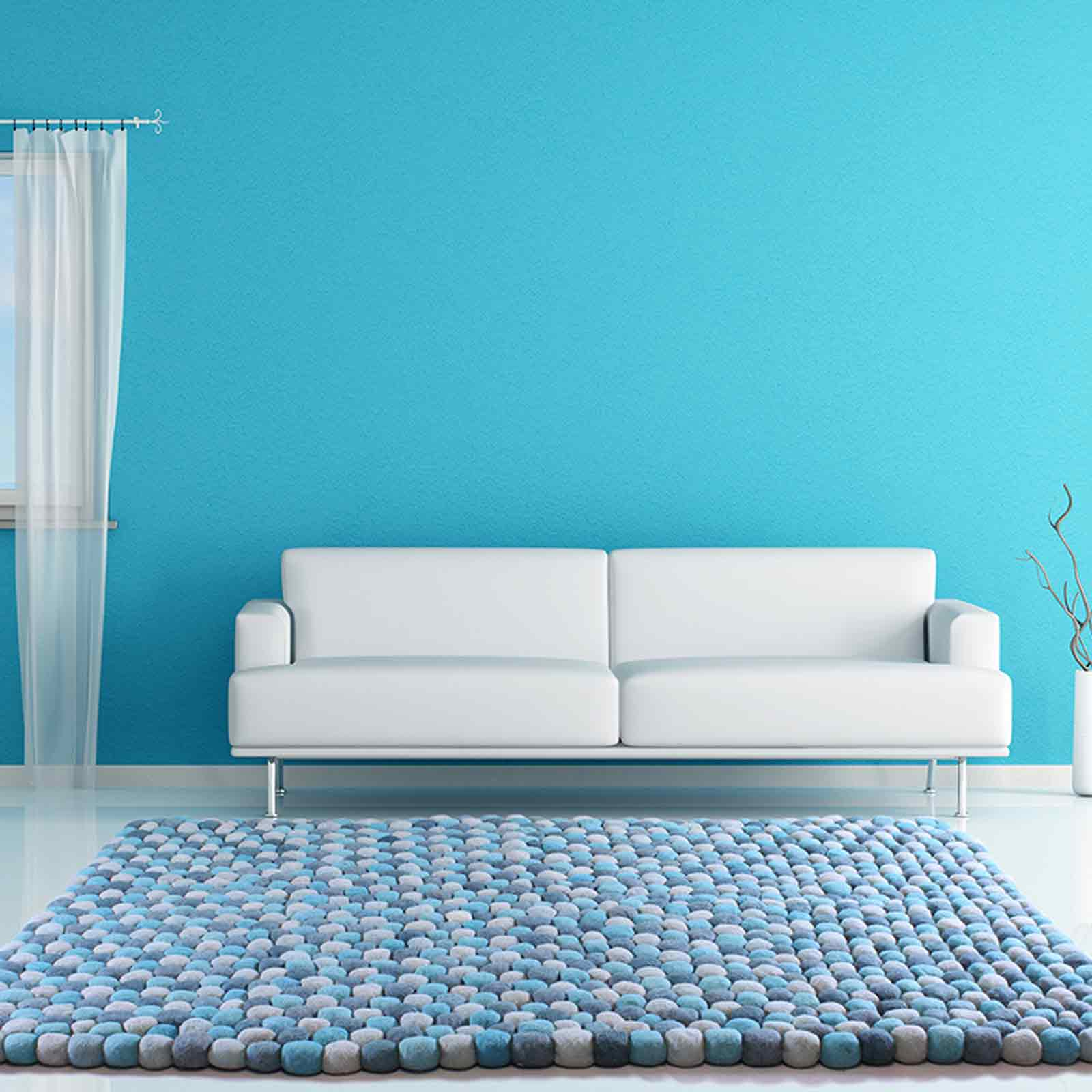 Pebble Rugs in Teal Blue