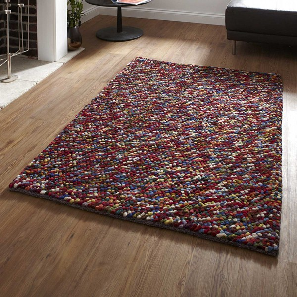 Pebbles Wool Shaggy Rugs In Multi Buy Online From The Rug