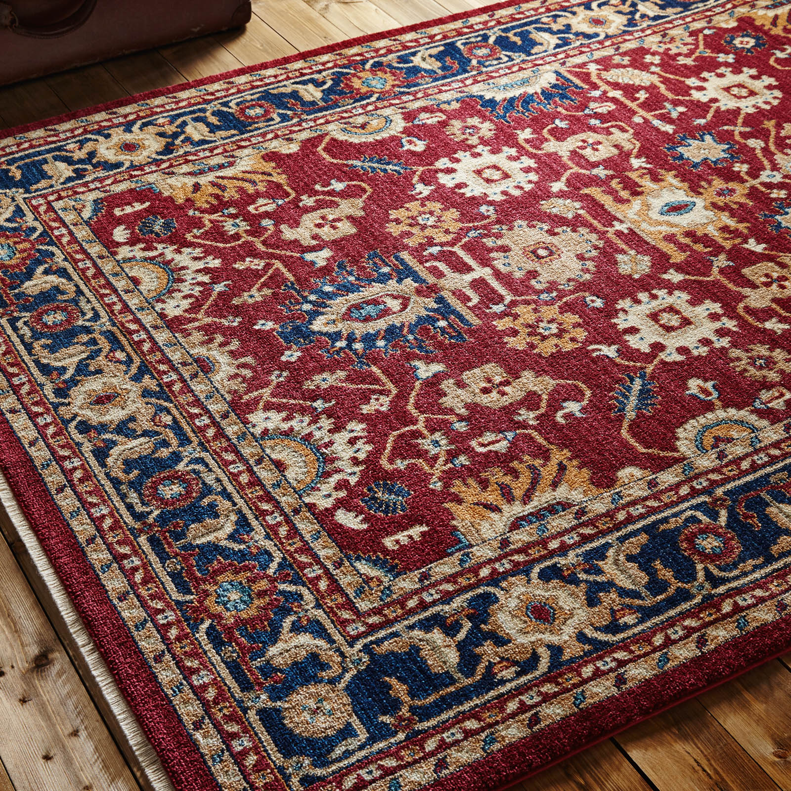 Persia Tabriz Rugs in Red and Navy