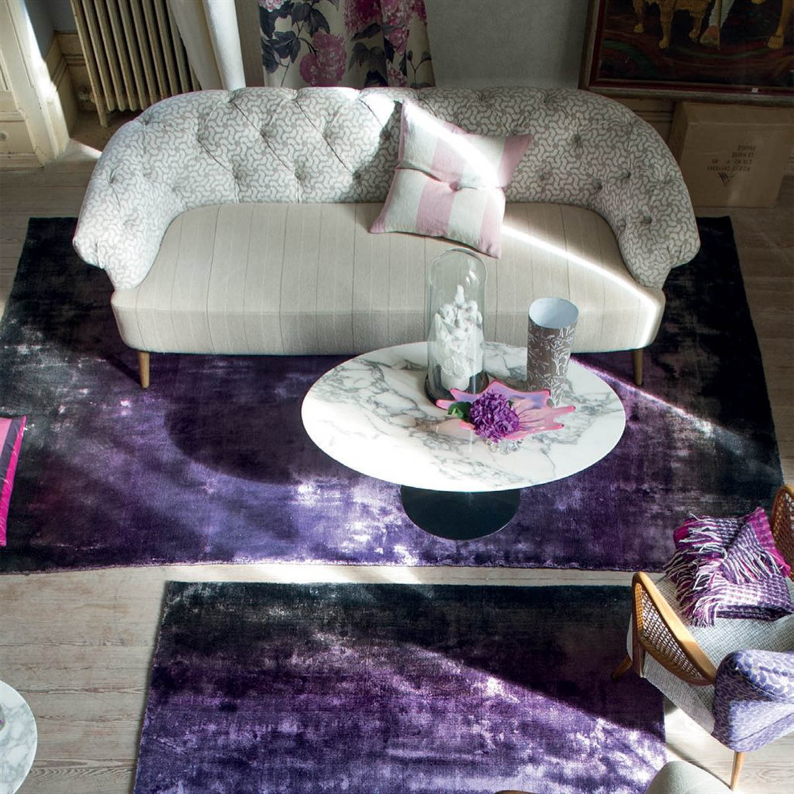 Phipps Aubergine Rug by Designers Guild