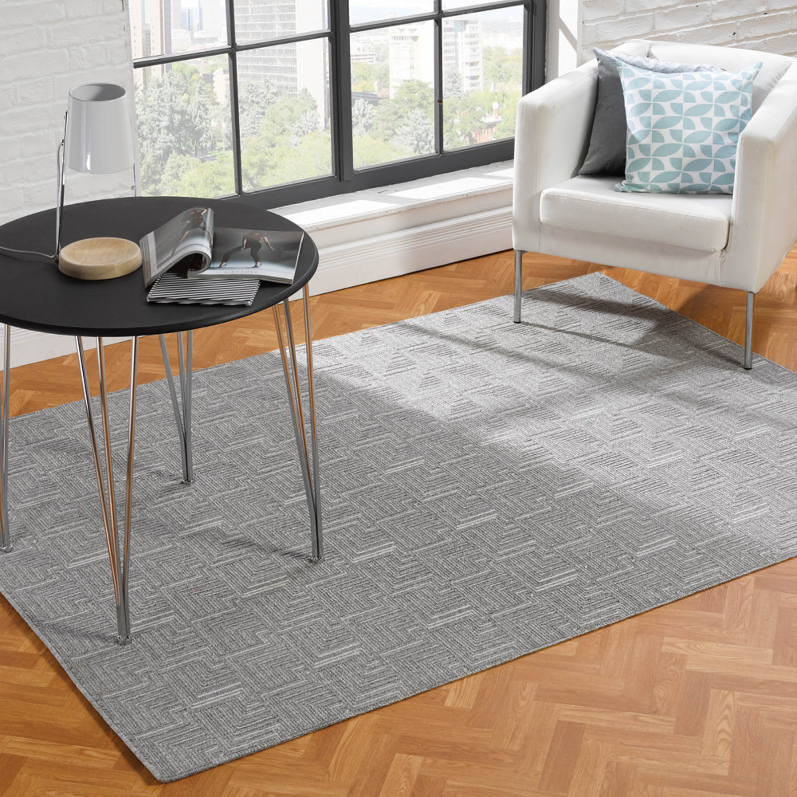 Skyline Pinnacle Rugs in Grey