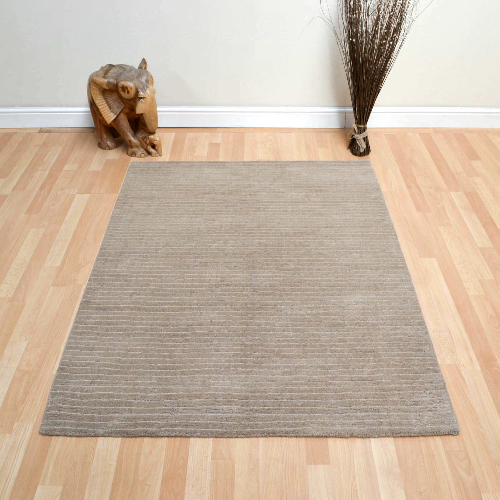 Pinstripe Rugs AD08 in Taupe