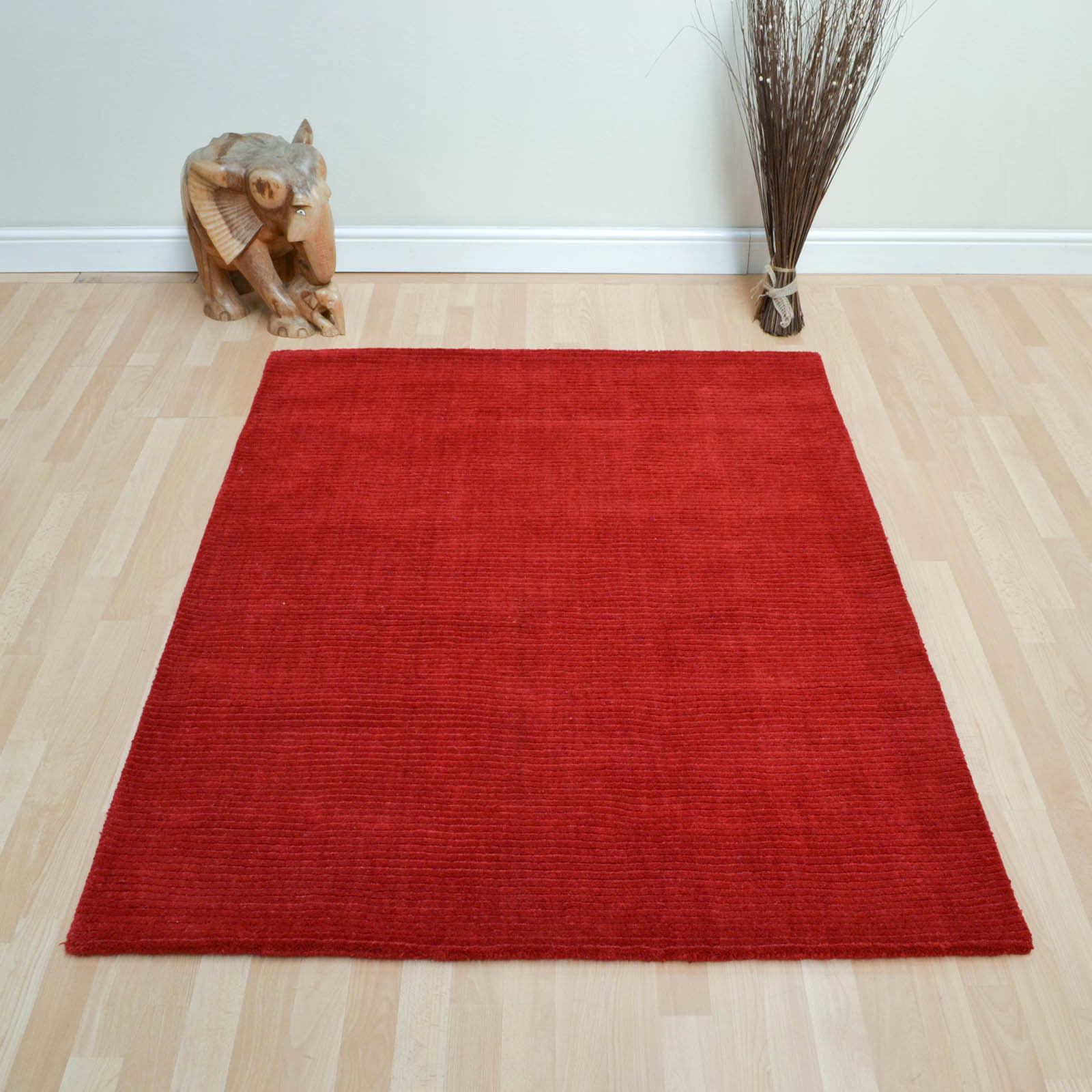 Pinstripe Rugs AO01 in Red