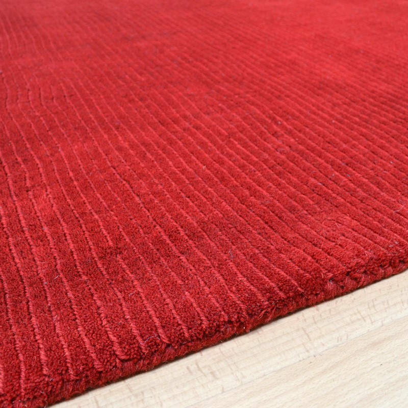 Pinstripe Rugs Ao01 In Red Buy Online From The Rug Seller Uk