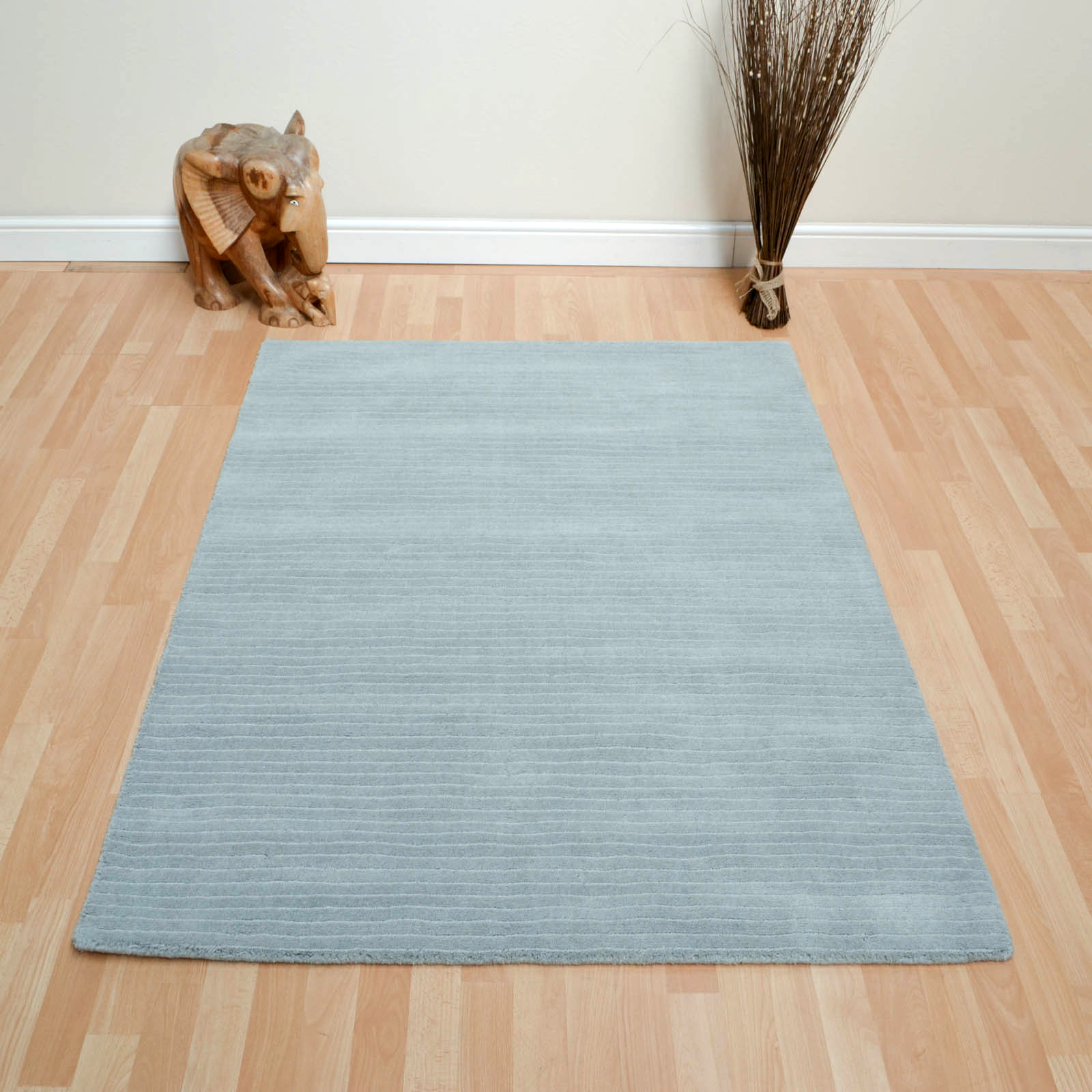 Pinstripe Rugs BL10 in Duck Egg
