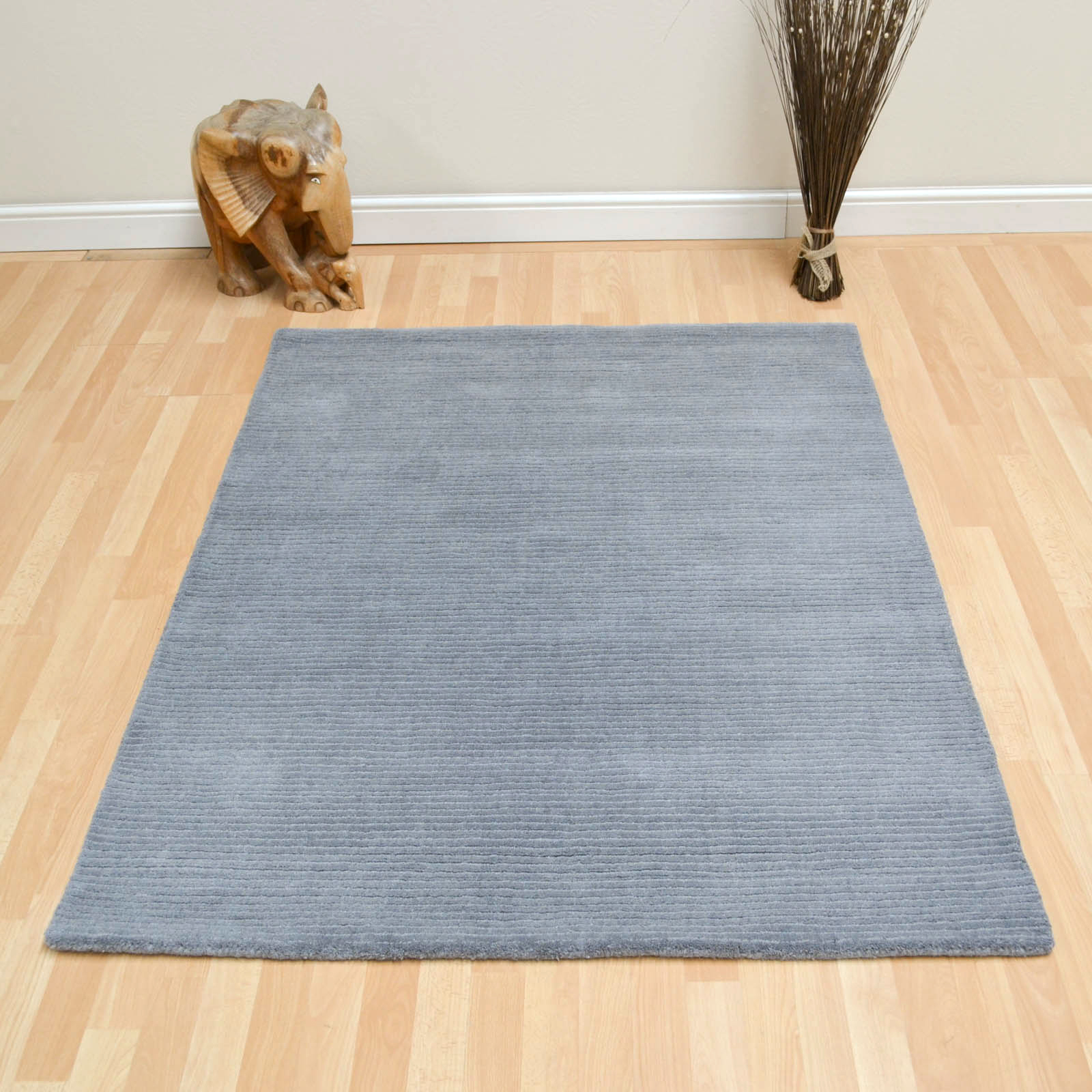Pinstripe Rugs BS07 in Grey