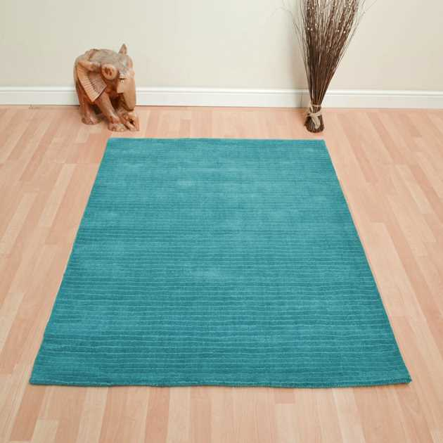 Pinstripe Rugs CG04 in Teal