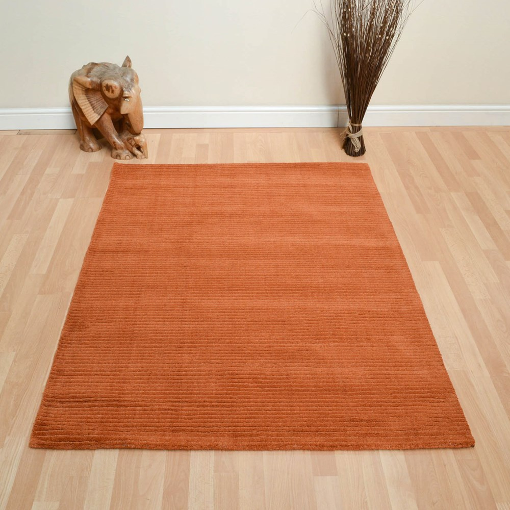 Pinstripe Rugs Do05 In Terracotta Buy Online From The Rug