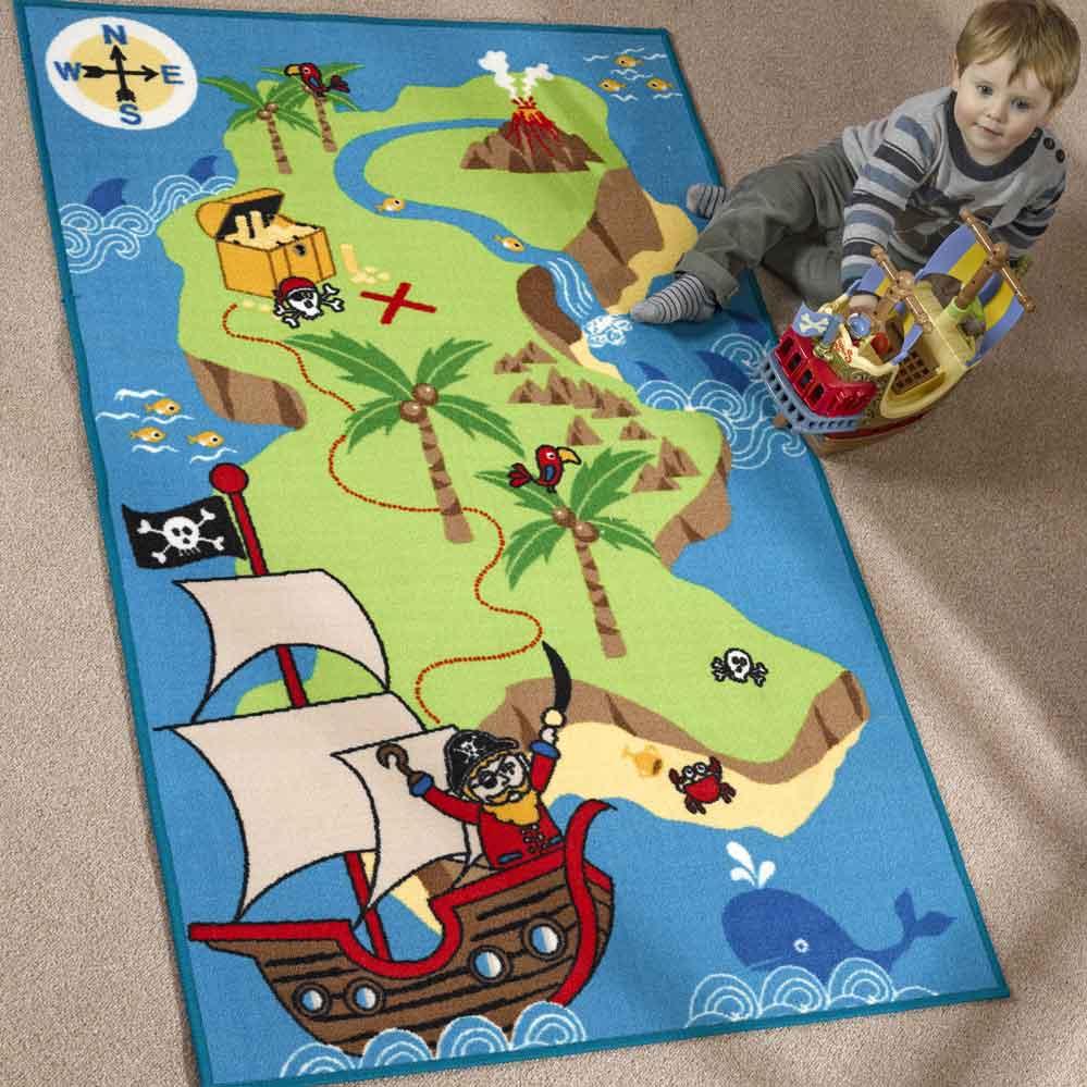 Pirate Treasure Map Rug