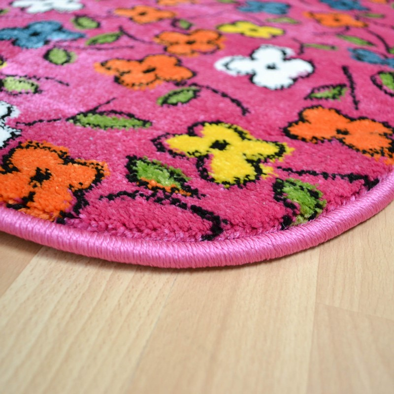 Play Meadow Circle Rugs In Pink Buy Online From The Rug