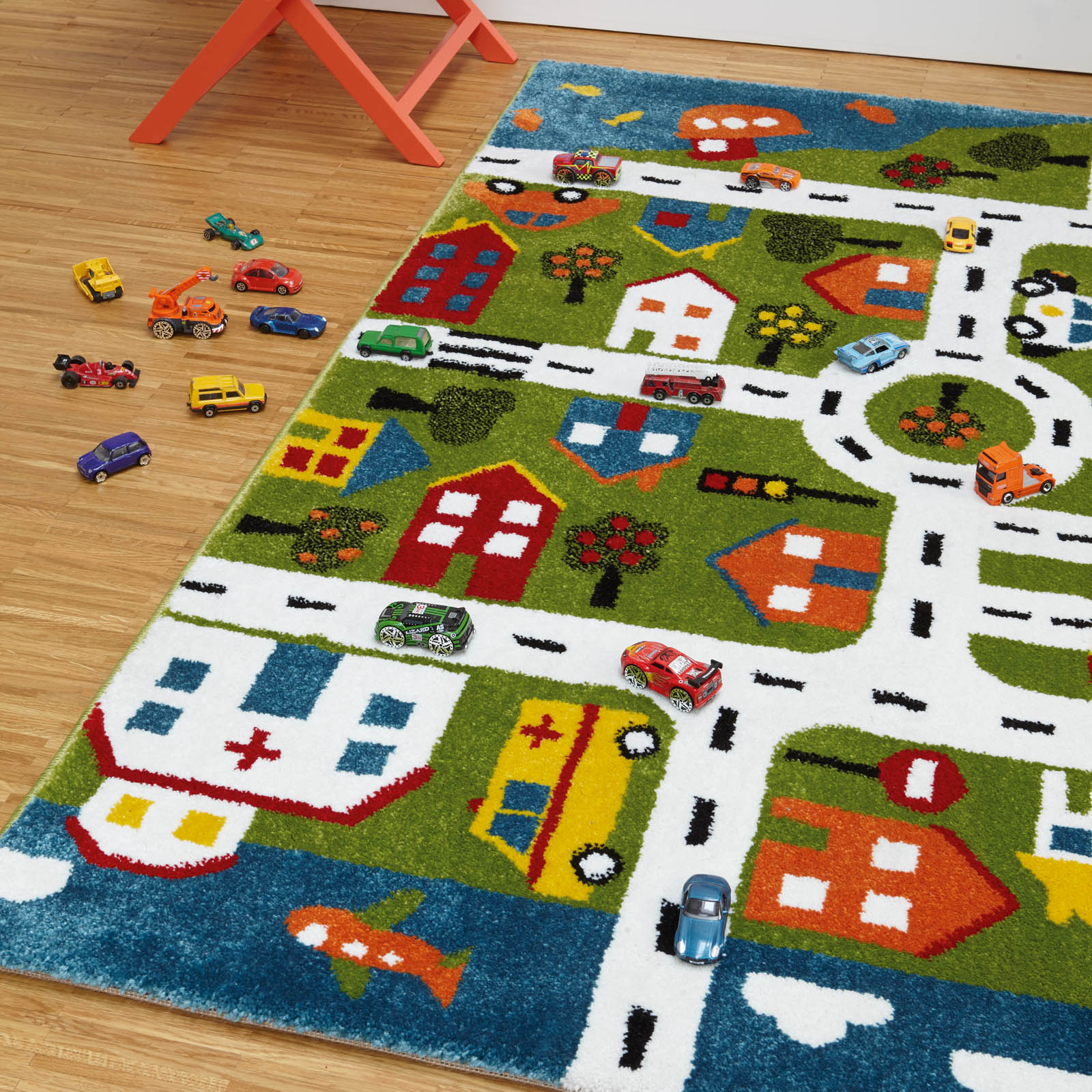 Play Town Map Rugs