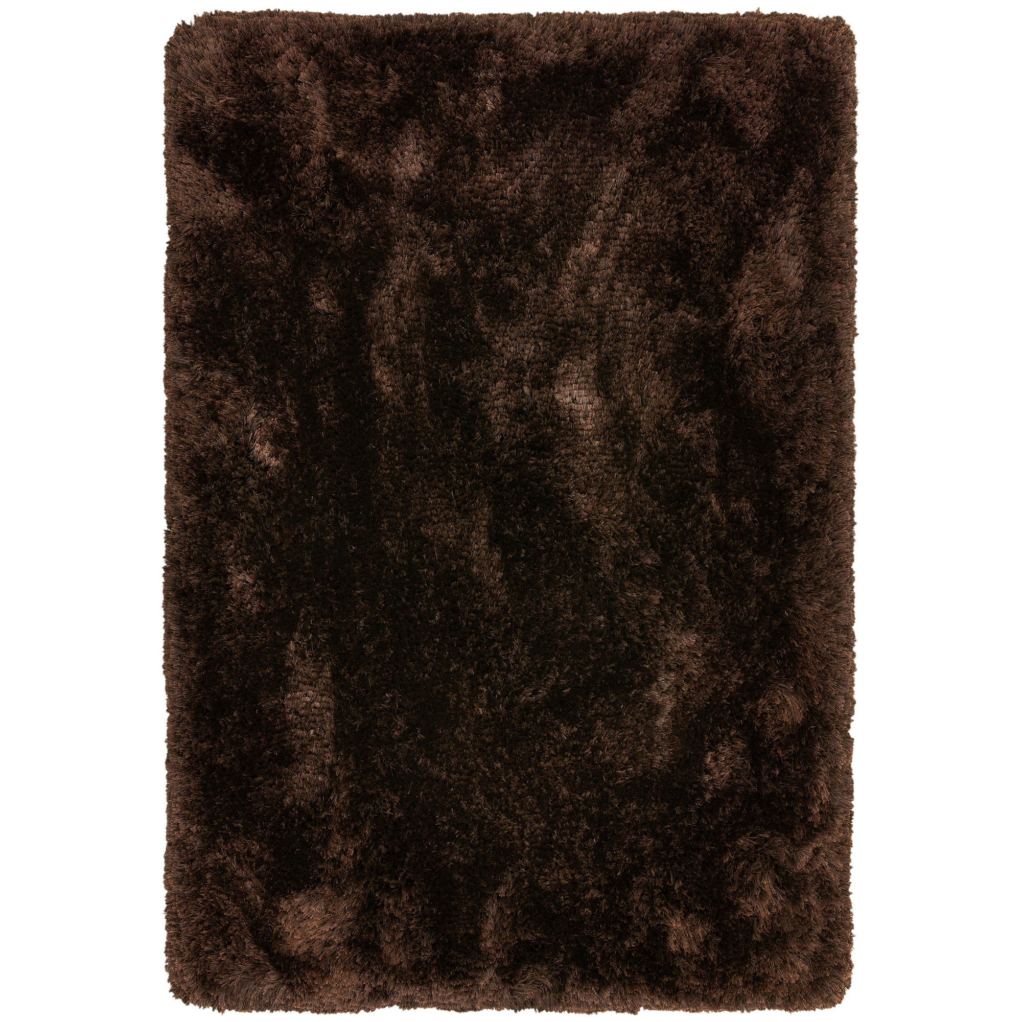Plush Shaggy Rugs In Dark Chocolate Brown