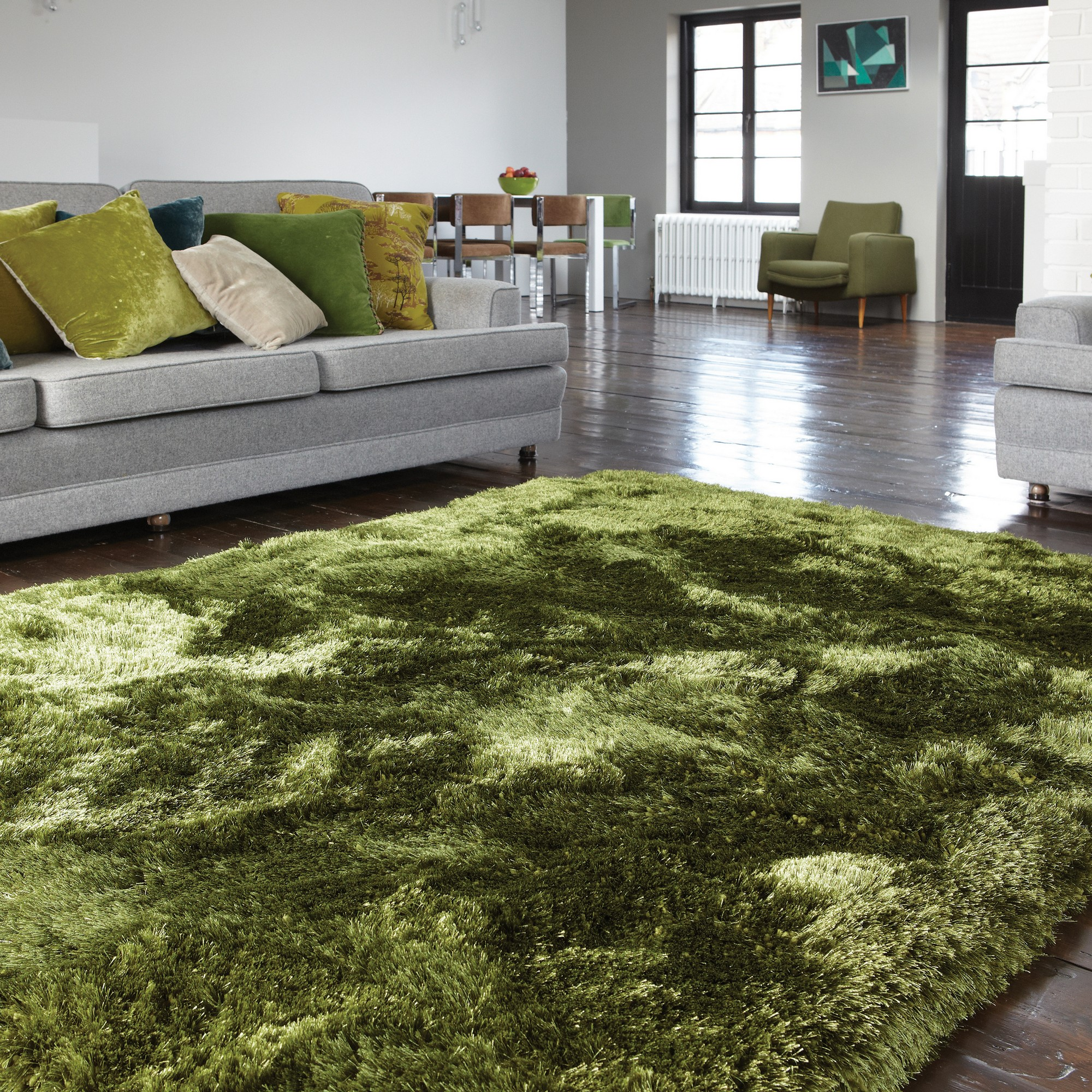 Plush Dusk Rug: Plush Shaggy Rugs In Ocean Buy Online From The Rug Seller Uk