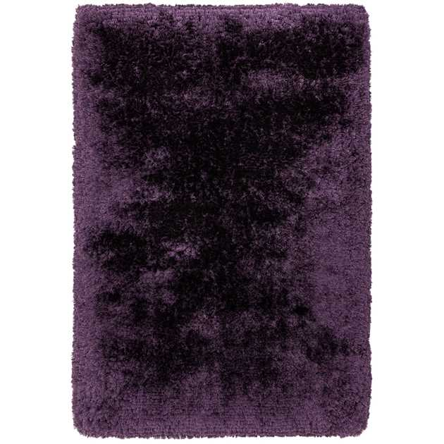Plush Shaggy Rugs in Purple