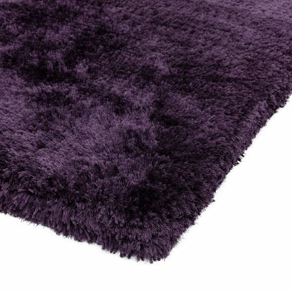 Plush Shaggy Rugs In Purple