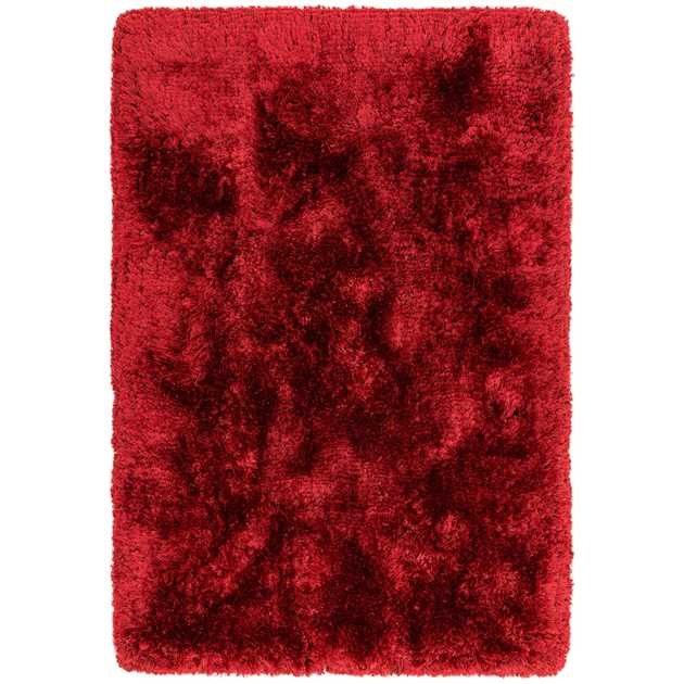 Plush Shaggy Rugs in Red