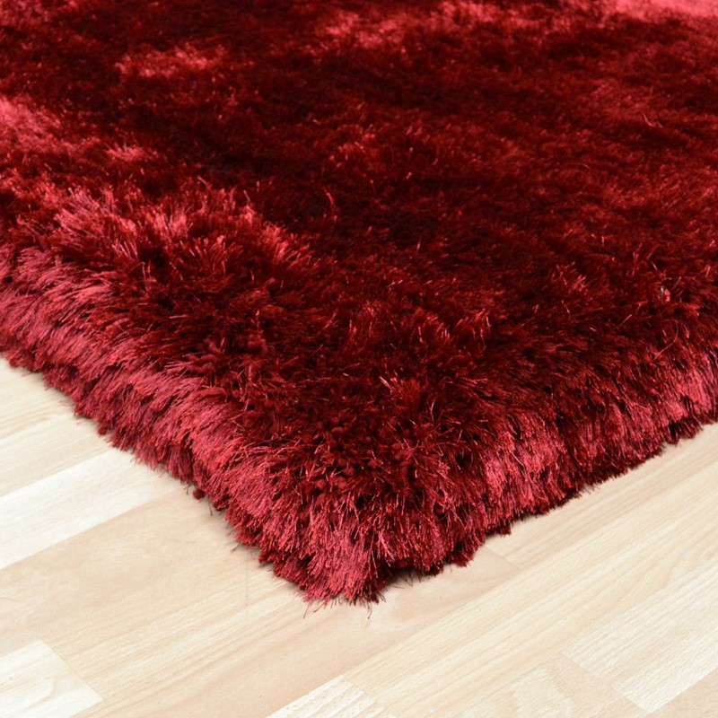 Plush Shaggy Rugs In Red Buy Online From The Rug Seller Uk