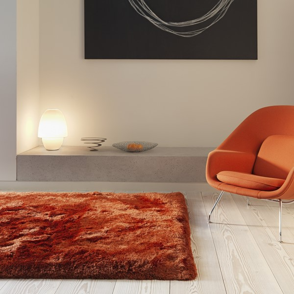 Plush Shaggy Rugs In Rust Buy Online From The Rug Seller Uk