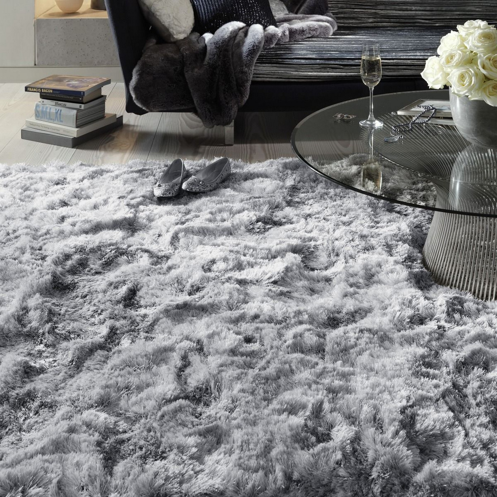Plush Rug Zinc: Plush Shaggy Rugs In Red Buy Online From The Rug Seller Uk