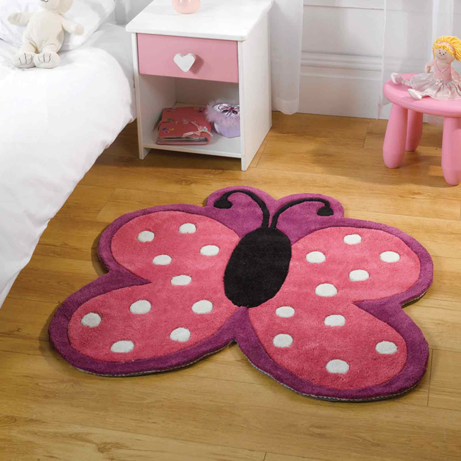 Play Polka Butterfly Rugs In Pink
